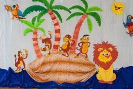 dekoracja małpy na wyspie